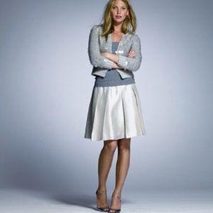 J. Crew Skirt Silk Dupioni Silver Gray Size 10 New
